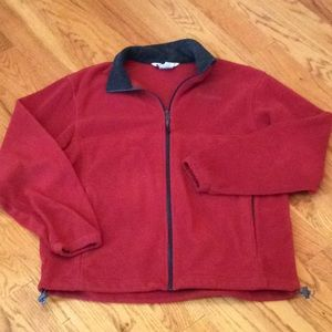 Columbia Fleece Zipper Jacket Large